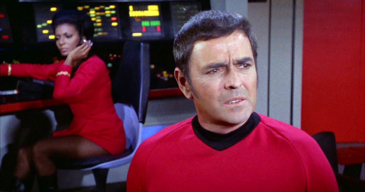 Smuggling the ashes of Scotty Star Trek aboard the space station