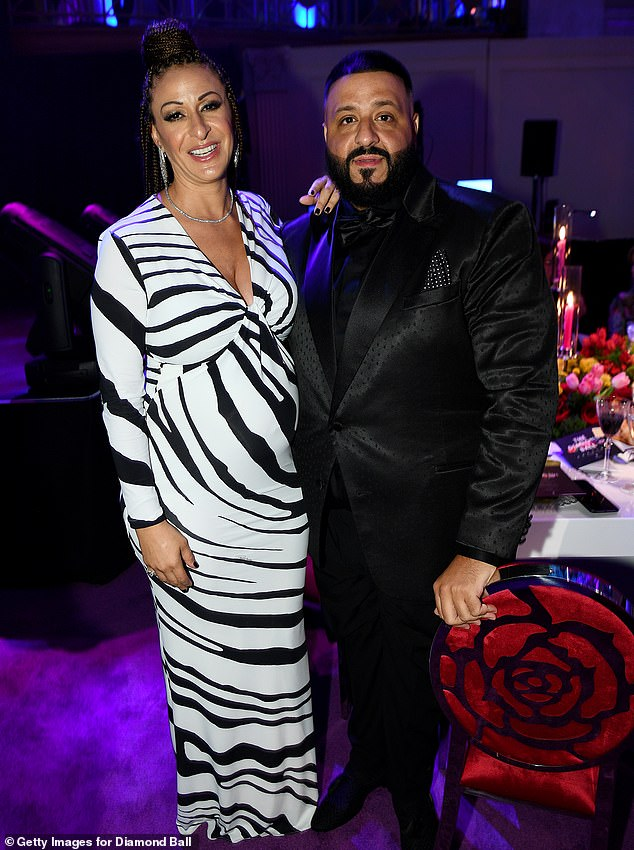 Going hard: Nicole Tuck and husband DJ Khaled appear in September 2019 in New York City
