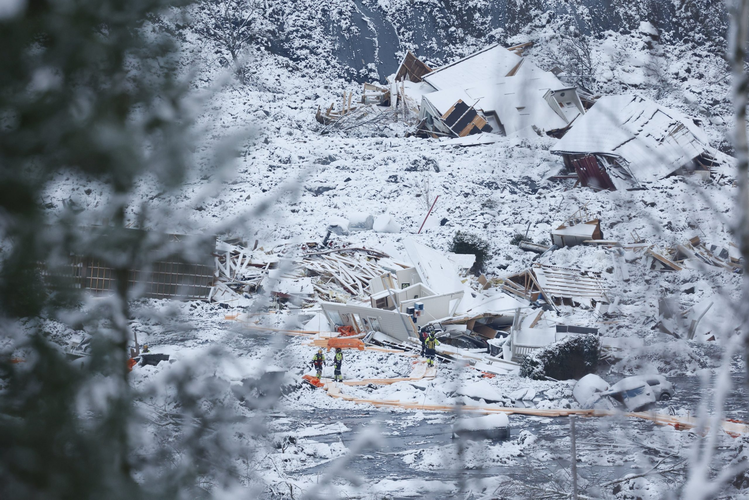 A third body was found after a landslide in Norway;  7 is still missing