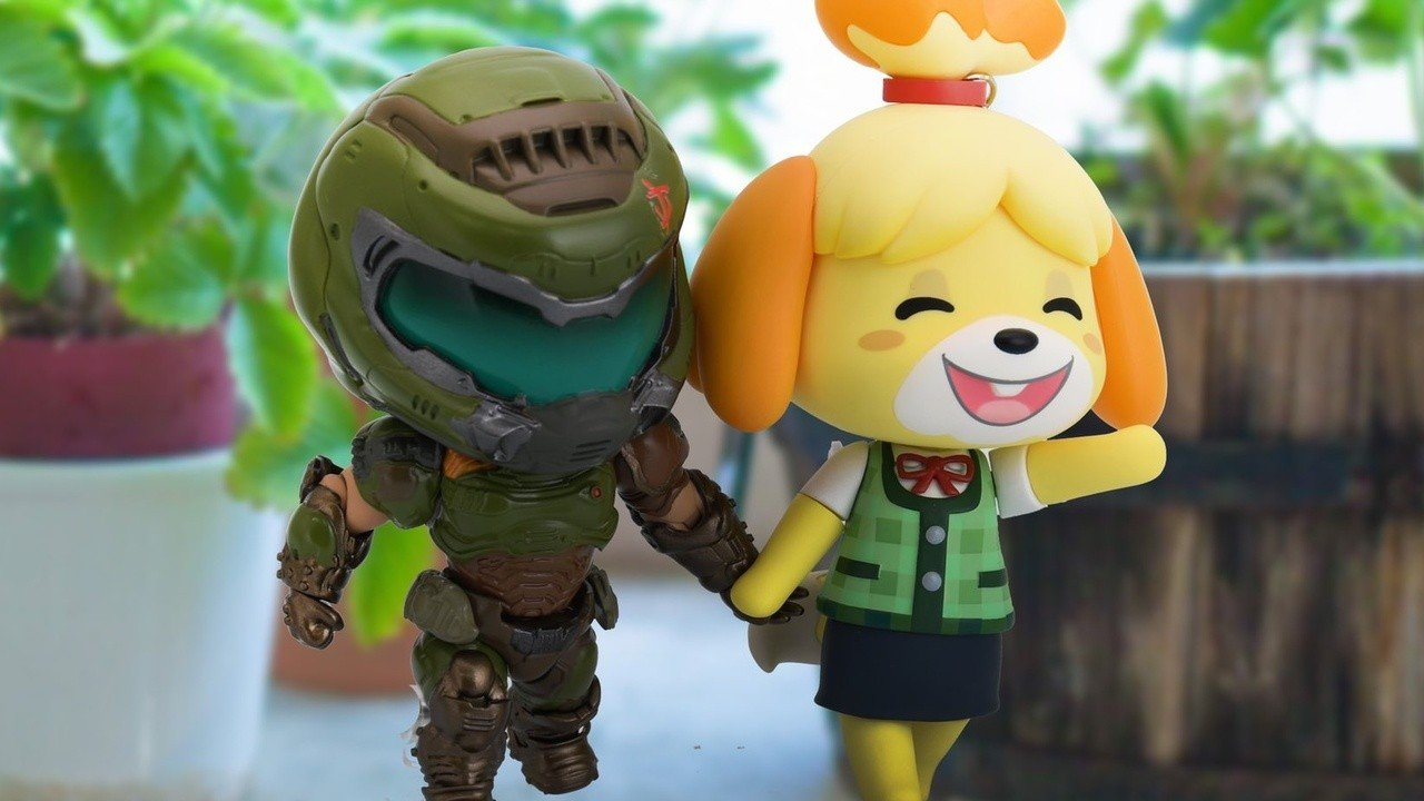 At random: Watch Doomguy and Animal Crossing's Isabel in the New Year together on Twitter
