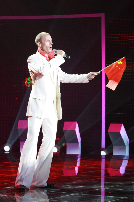 Ian became famous when he auditioned for China Got Talent, and it became a new creation of a Chinese man singing traditional Chinese songs.  (Han Sangming / Real Life Pa)